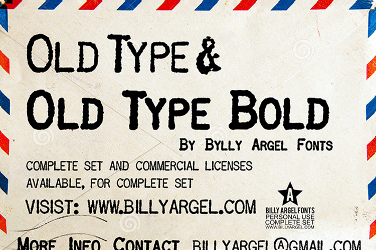 OLD TYPE Font