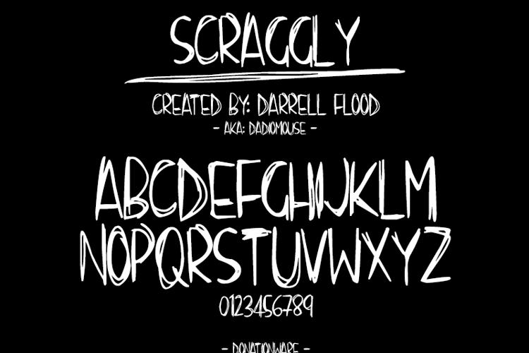 Scraggly Font