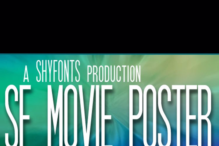 SF Movie Poster Font