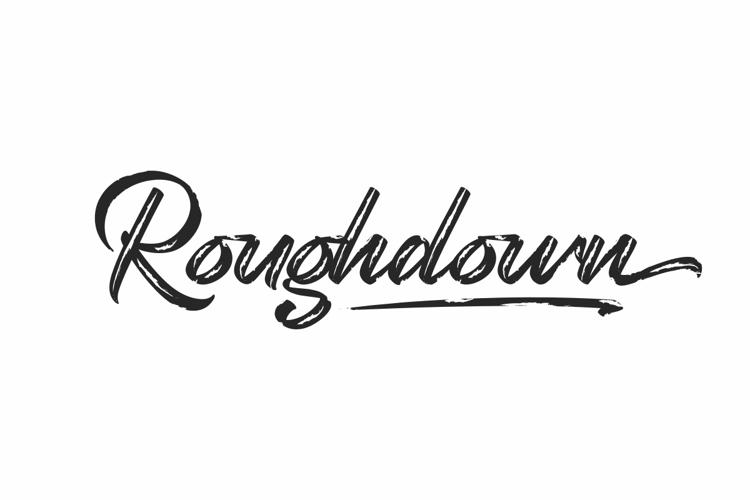 Roughdown Font