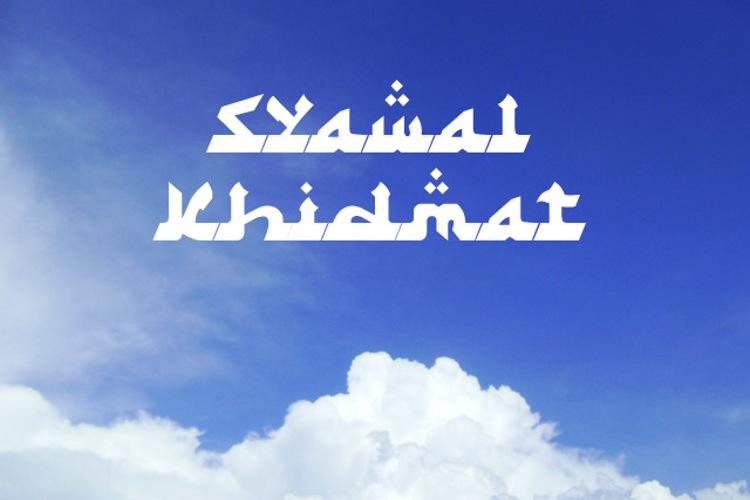 Syawal Khidmat Font