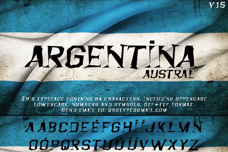 Argentina Austral Font