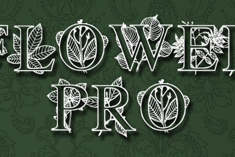 FlowerProDemo Font