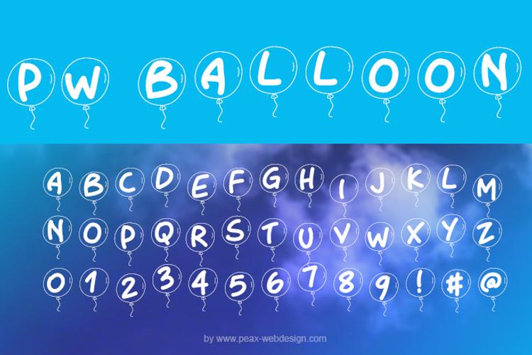 PWBalloon Font