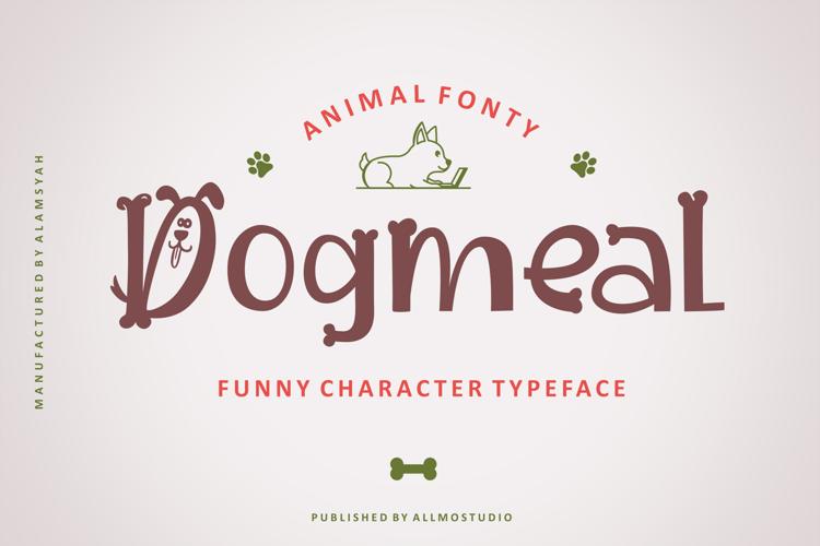 Dogmeal Figure Font