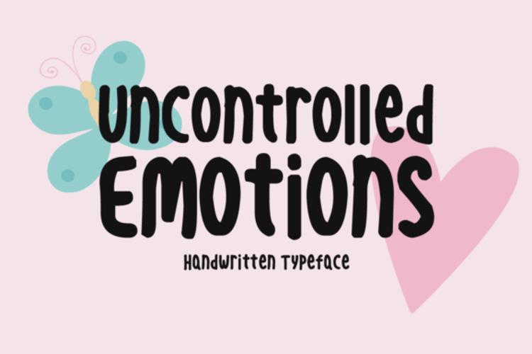 Uncontrolled Emotions Font