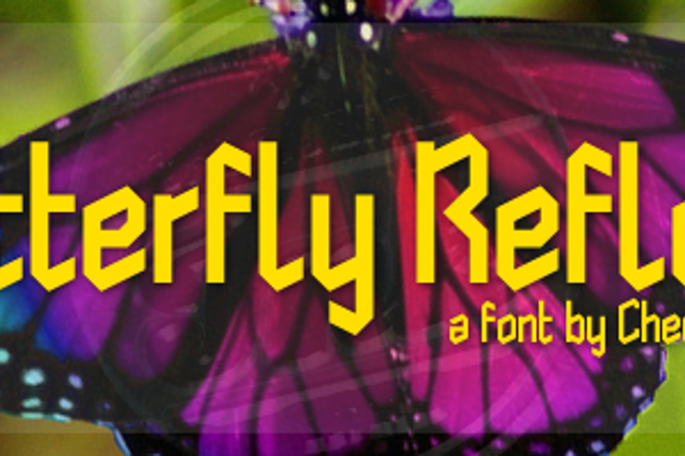 Butterfly Reflect Font