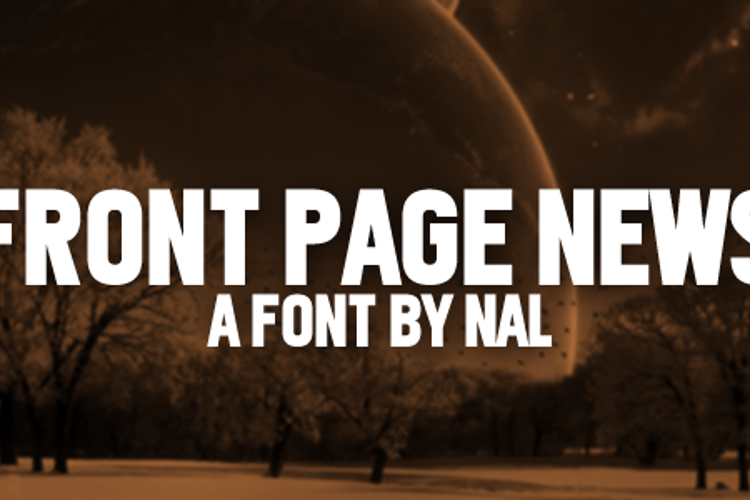Front Page News Font