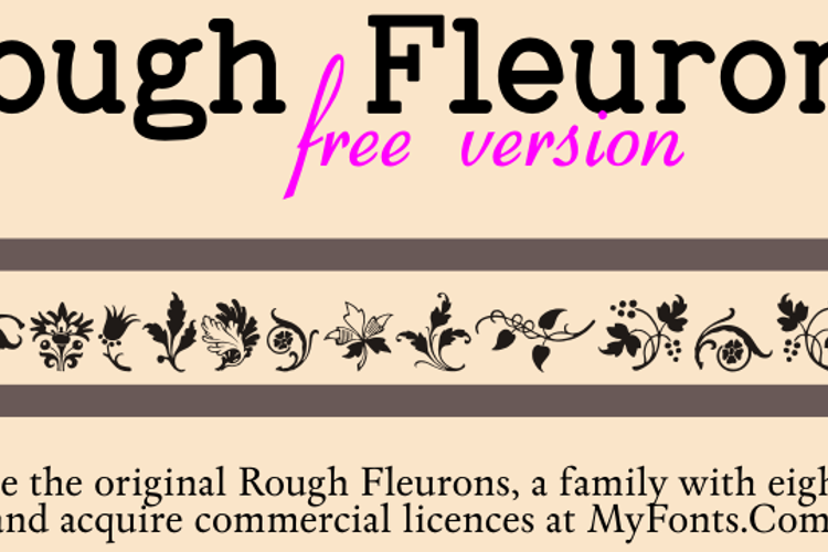 Rough Fleurons Free Font