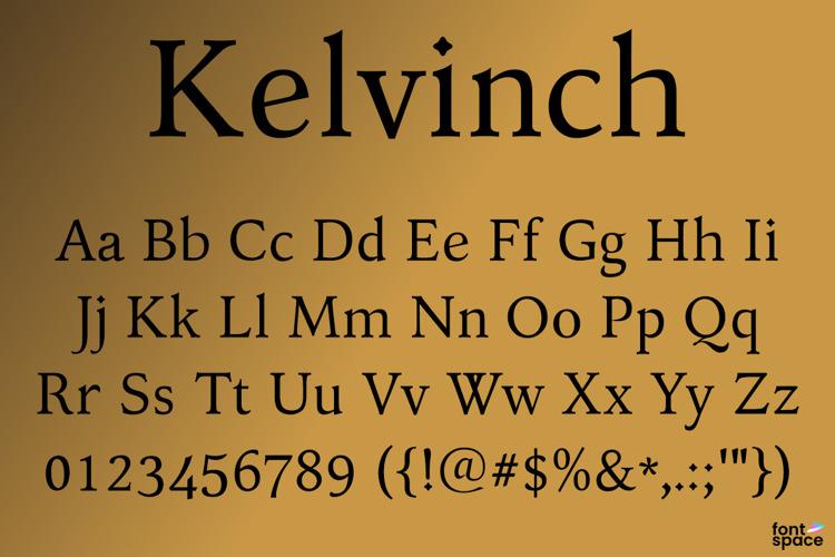 Kelvinch Font