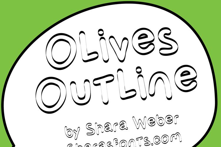 Olives Outline Font