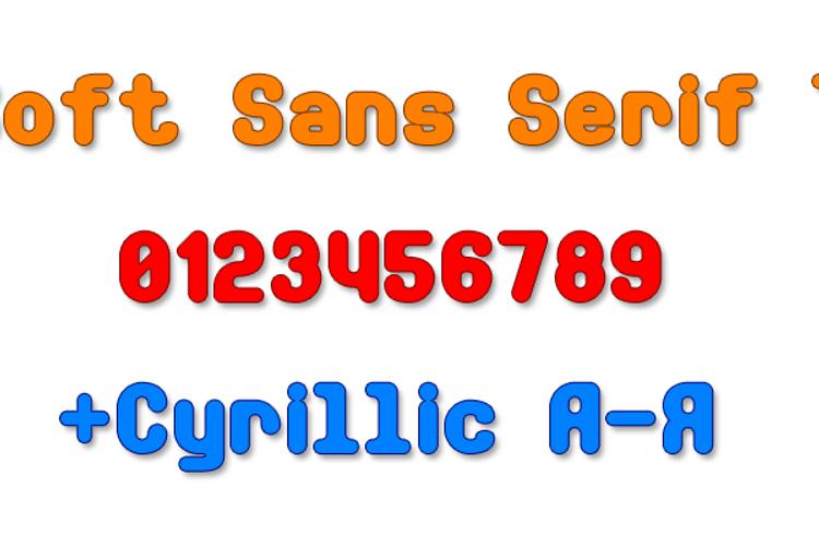 Soft Sans Serif 7 Font
