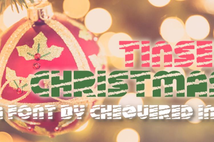 Tinsel Christmas Font