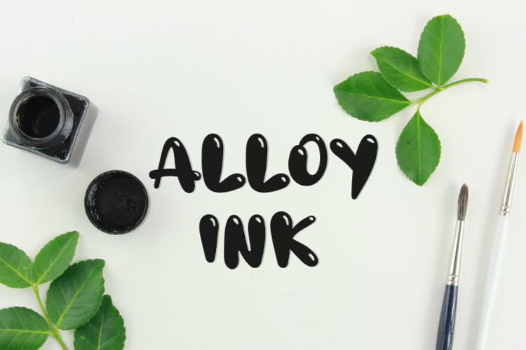 a Alloy Ink Font