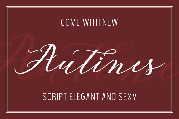 Autines Script Font
