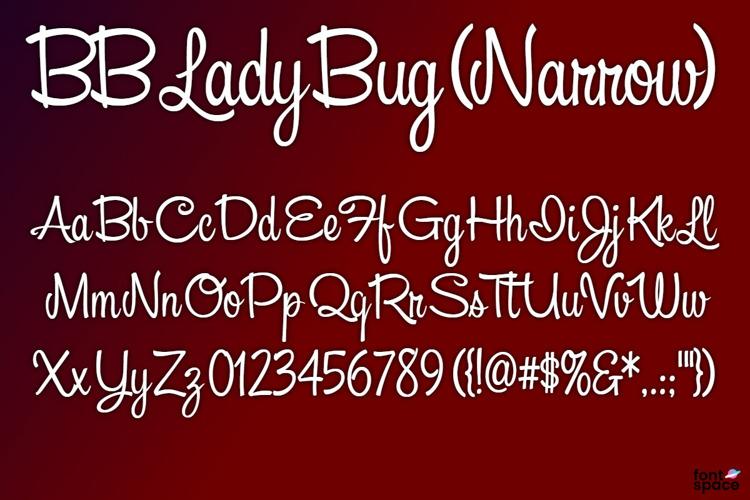 BB Lady Bug (Narrow) Font