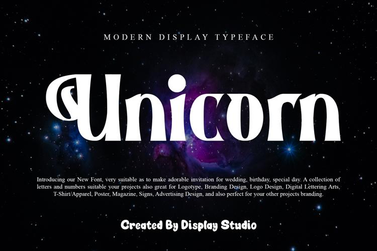 Unicorn Font