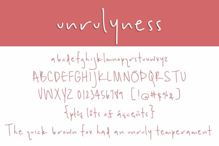 unrulyness Font