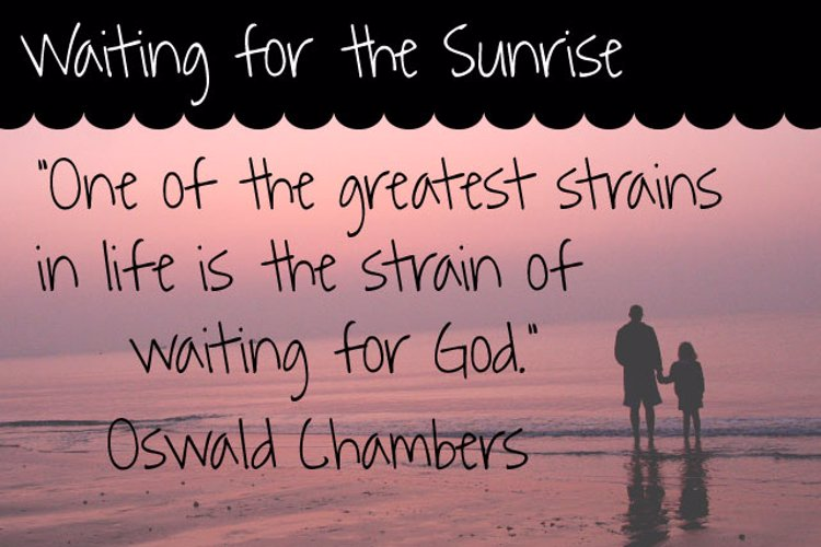 Waiting for the Sunrise Font