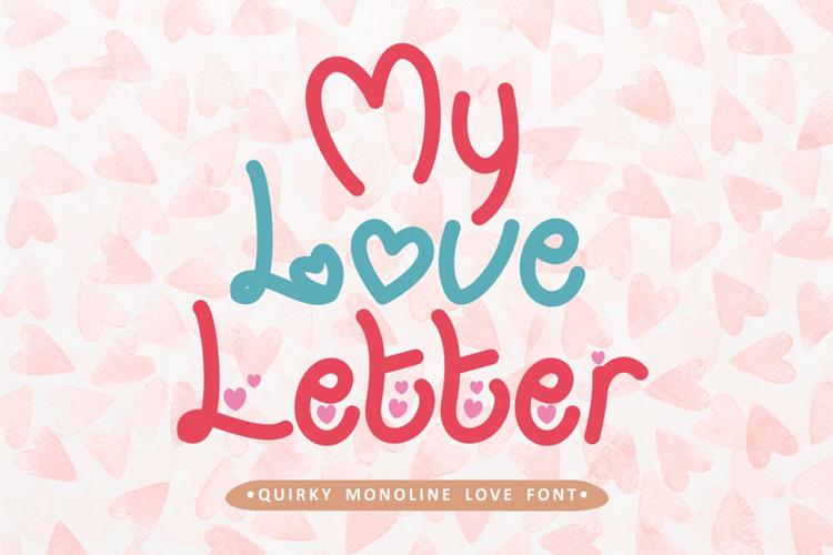 My Love Letter Font