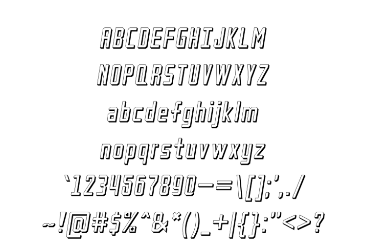 Petak Square Shadow Font