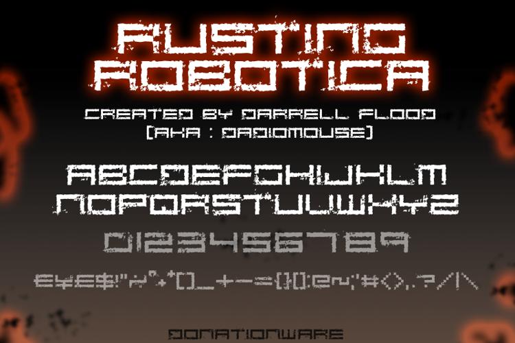 Rusting Robotica Font