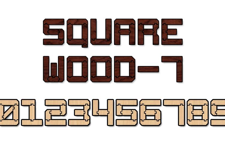 Square Wood-7 Font