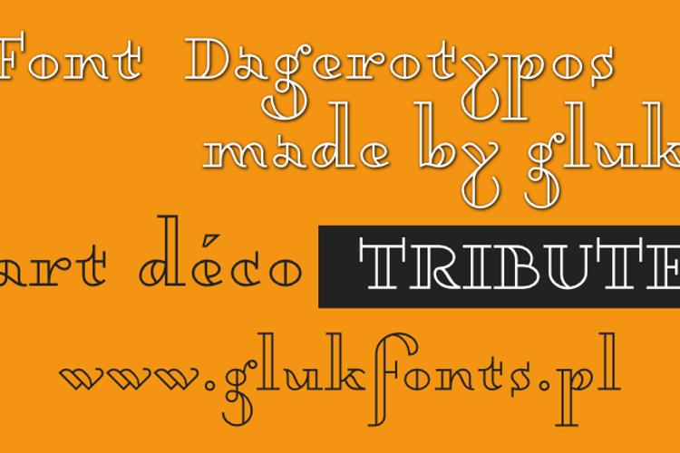 Dagerotypos Font