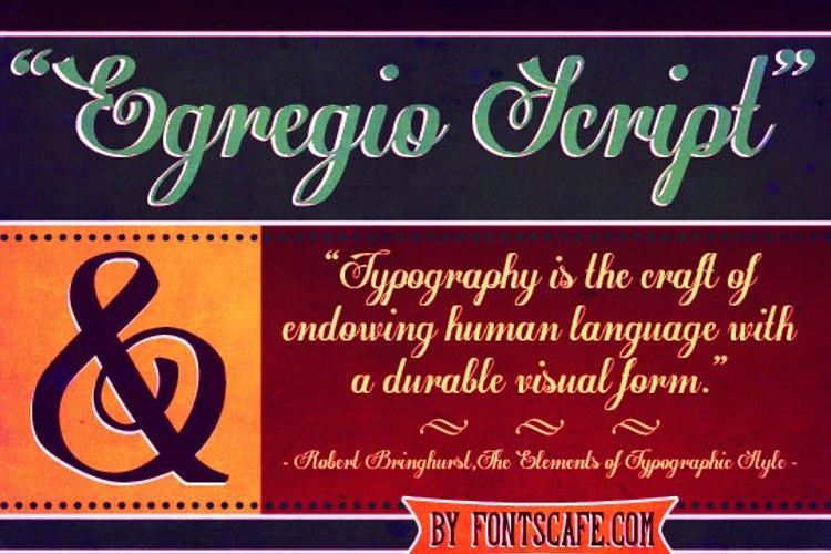 Egregio Script_demo Font