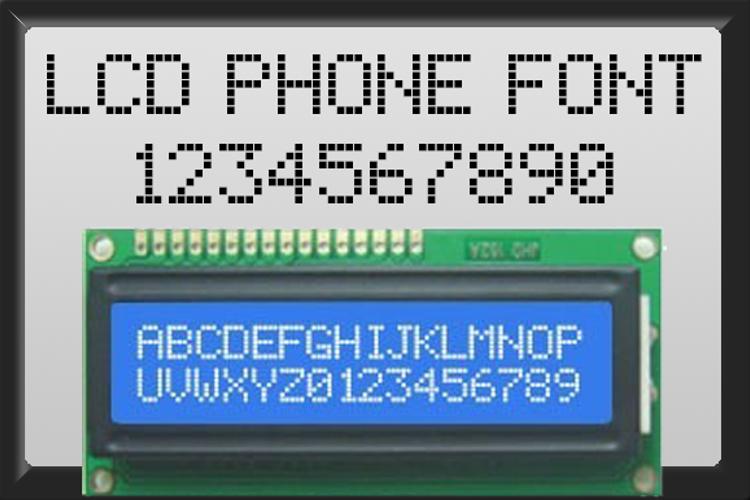 lcd phone Font