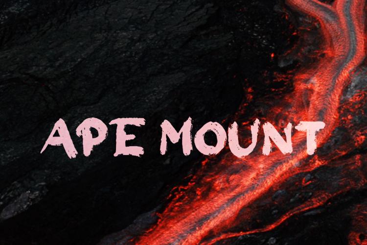 a Ape Mount Font