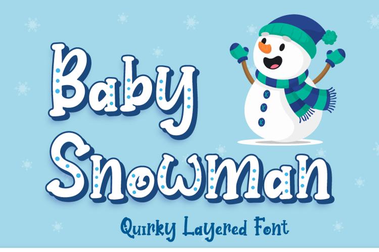 Baby Snowman Display Font