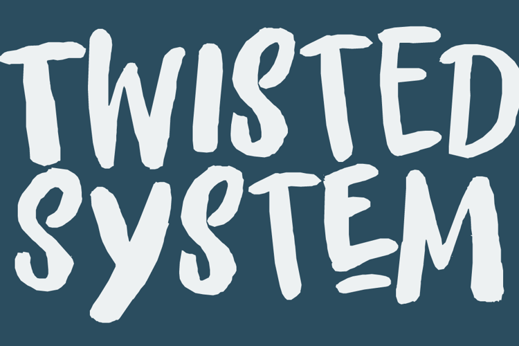 Twisted System DEMO Font