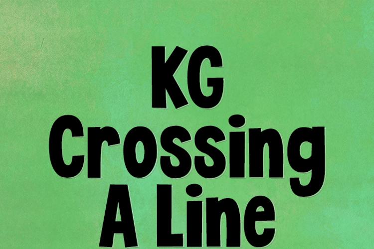 KG Crossing A Line Font