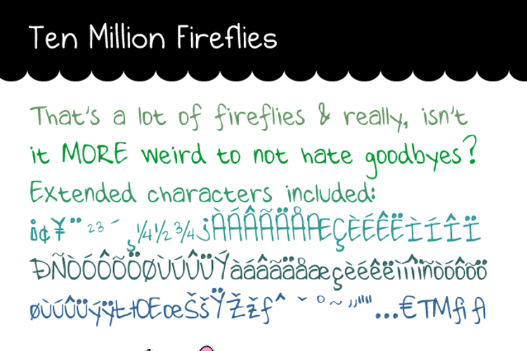 Ten Million Fireflies Font