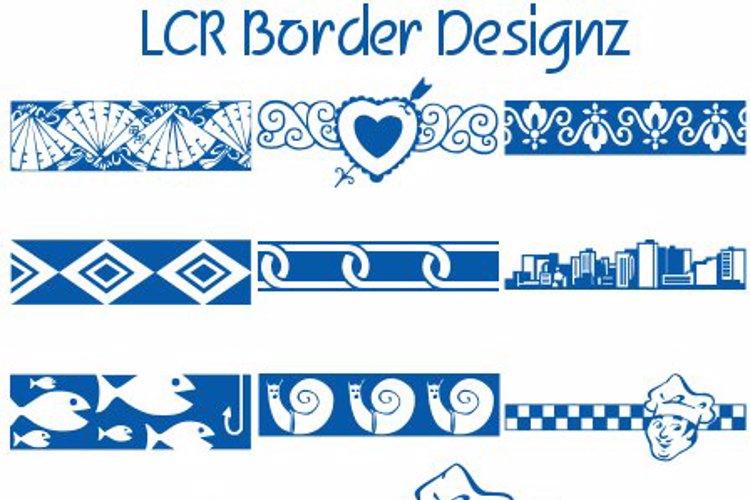 LCR Border Designz Font