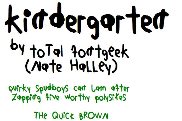 KindergartenNBP Font