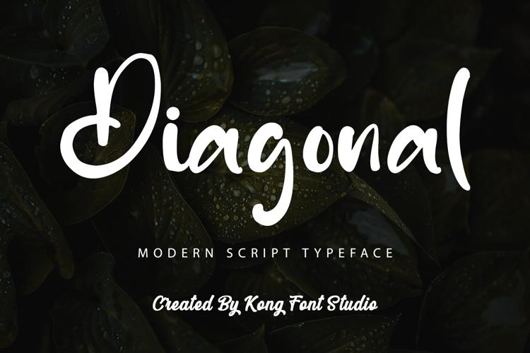 Diagonal Font