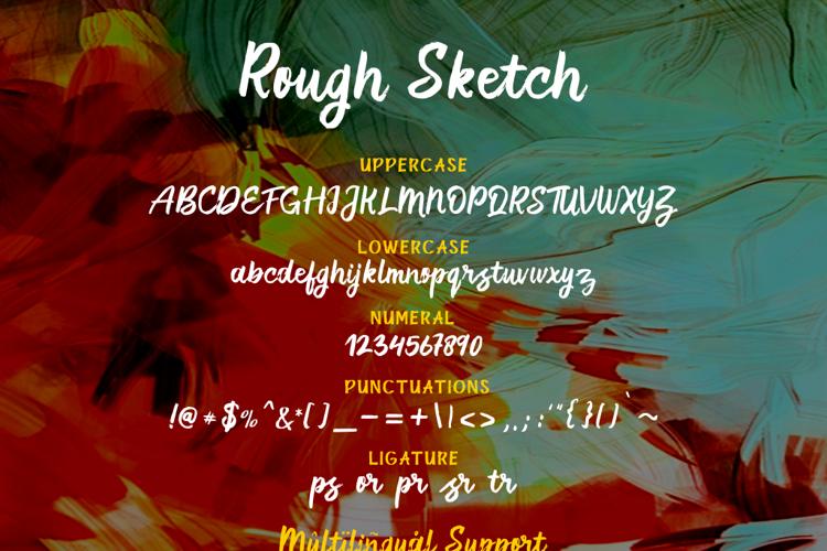 Rough Sketch Font