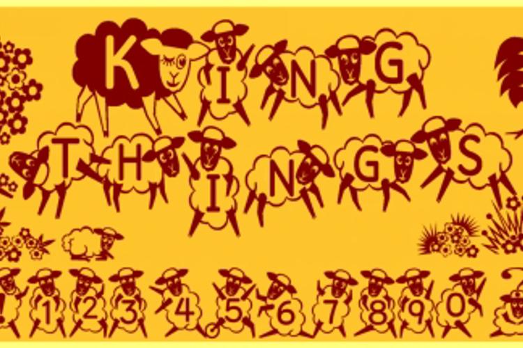 Kingthings Sheepishly Font
