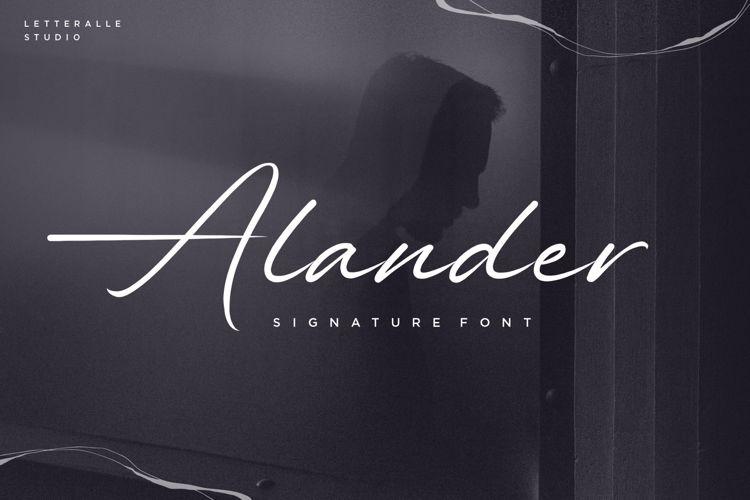 Alander Font