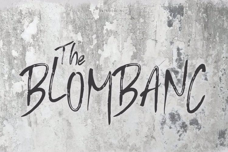Blombanc Font