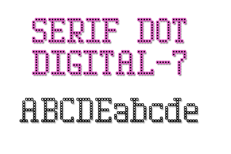Serif Dot Digital-7 Font
