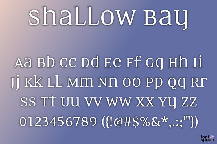 BB Shallow Bay Font