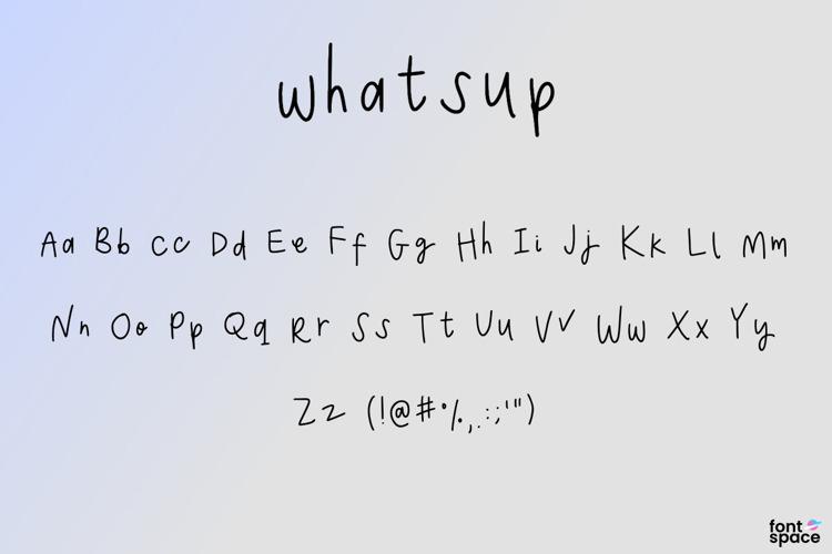whatsup Font