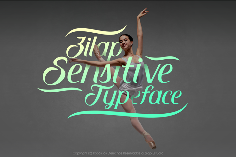 Zilap Sensitive Font