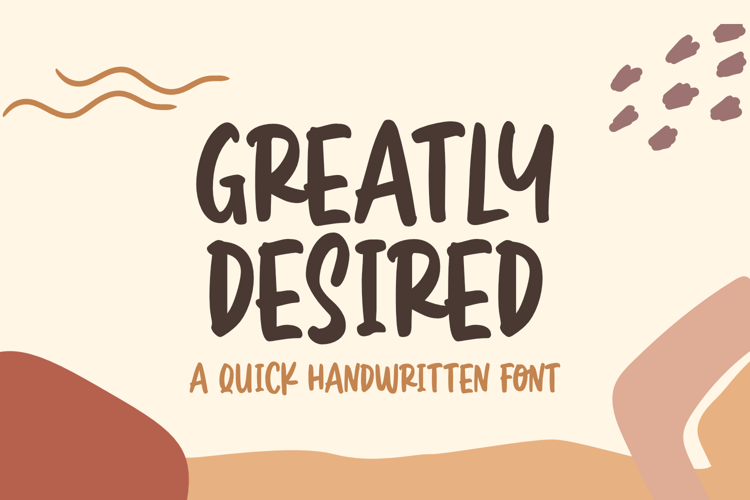 Greatly Desired Font