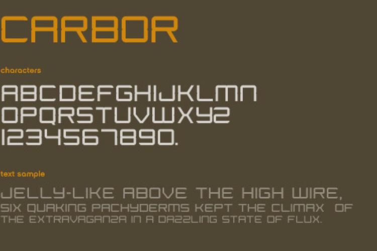Carbor Font