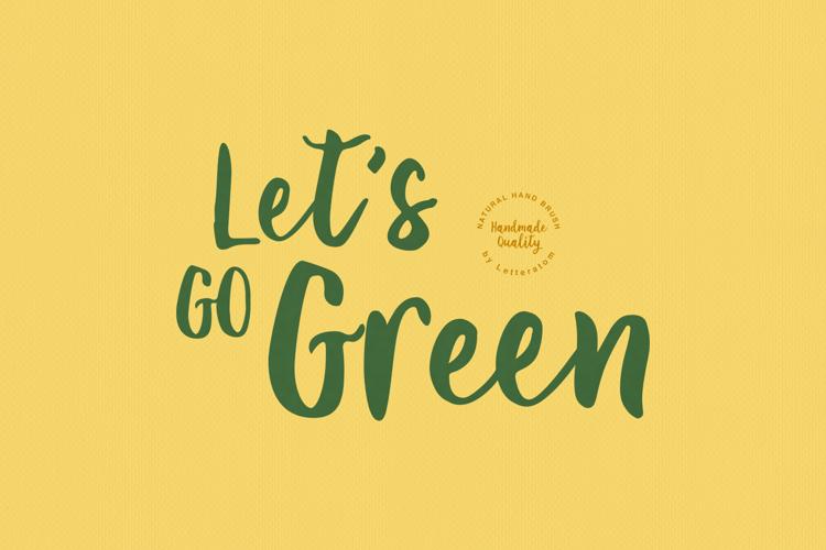 Let 's Go Green Font