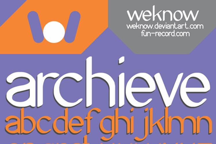 Archieve Font